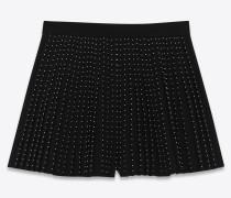 Plissierte Shorts aus Saint Laurent-Sablé
