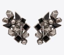 MARRAKECH Cluster-Ohrringe aus Metall und Emaille