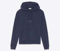 Kapuzensweatshirt mit violettem Saint Laurent-Quadrat