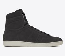 court sl/10h sneakers aus asphaltgrauem velours