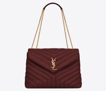"""Medium Loulou chain bag in """"Y""""-quilted leather"""
