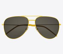 Gelbe und braue Sonnenbrille Classic 11