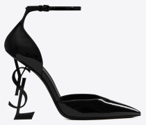 OPYUM d'orsay pumps in patent leather with black heel