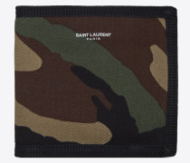 BUFFALO E/W Portemonnaie aus Gabardine mit Camouflageprint