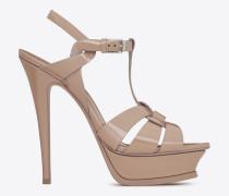 tribute 105 sandale aus lackleder in der farbe beige rosé