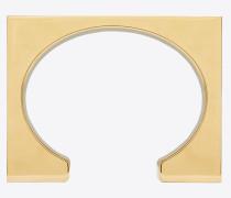 TRIBAL square block cuff bracelet in metal