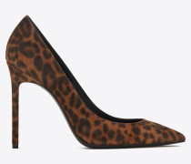 ANJA pumps in suede with a leopard print