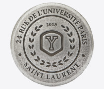 love pins university-badge aus silberfarbenem zinn