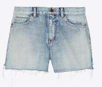 Baggy-Shorts aus blauem Sunset-Denim