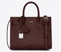 nano sac de jour bag in crocodile embossed leather