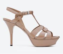 tribute 75 sandale aus lackleder in der farbe beige rosé