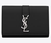 Schlüsselbeutel aus schwarzem Leder