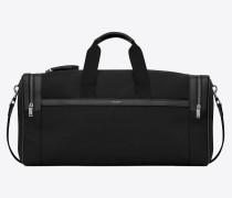 City Sporttasche aus schwarzem Canvas und Leder