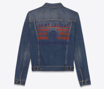 Saint Laurent University Jacke aus blauem Vintage-Denim.