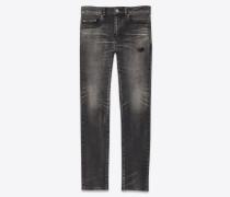 Tokyo schwarze Skinny-Jeans aus Stretchdenim