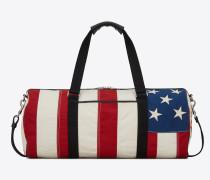 NOE Sporttasche aus Canvas mit amerikanischem Flaggenprint
