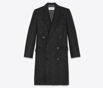 Tweed-Mantel mit Glitzerverzierung