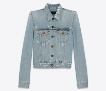 Denim jacket in icy blue