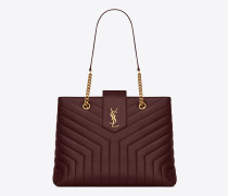 """Large Loulou shopping bag in Y""""-quilted leather"""""""