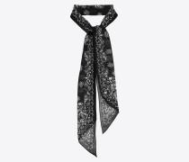 Lavallière-Krawatte aus Wollmousselin mit YSL-Bandanaprint
