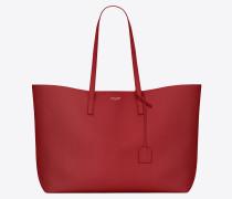 saint laurent shopper-totebag aus rotem leder