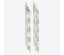 Cascade earrings in brass and crystal