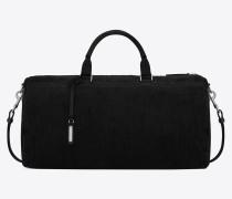 Andy Duffle Bag aus schwarzem Cord und Leder