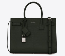 Classic baby Sac de Jour in shiny crocodile-embossed leather
