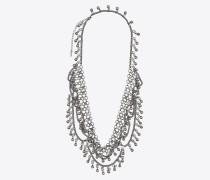 Folk Halskette aus silberfarbenem Metall mit Zinnglocken