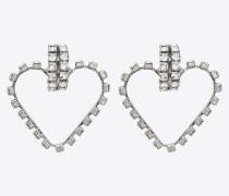 SMOKING Love-Ohrringe aus Metall und Kristallen