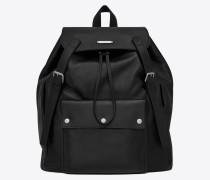 Noé Saint Laurent Rucksack aus schwarzem Leder