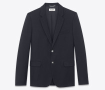 CLASSIC CROPPED BLAZER IN WOOL GABARDINE