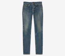 Skinny-Jeans aus Stretch-Denim mit Dirty-Sandwaschung