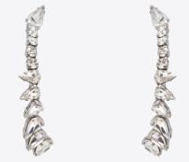 SMOKING Ohrringe aus Metall und Kristallen