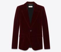 Klassische Jacke aus burgunderrotem Samt