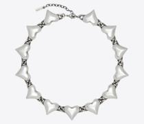 Multi-heart necklace in brass