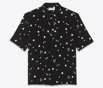 Kurzärmeliges Hemd aus Viskose-Canvas