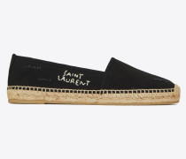 espadrilles in used embroidered canvas