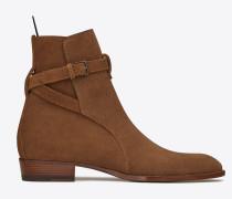 Wyatt 30 Jodhpur-Stiefel aus haselnussbraunem Veloursleder