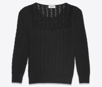 pullover aus schwarzem viktorianischem jacquard