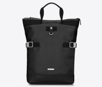 verstellbarer rivington race rucksack aus schwarzem leder