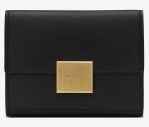 Kleines Bellechasse Portemonnaie aus schwarzem Leder