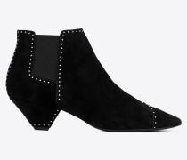 Blaze 45 Chelsea-Stiefelette aus schwarzem Veloursleder mit Nieten