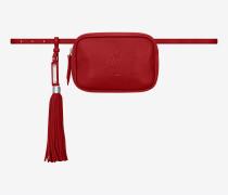 lou gürteltasche aus rotem leder