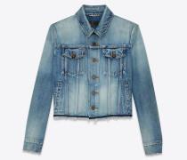 Boyfriend-Jacke aus himmelblauem Vintage-Denim