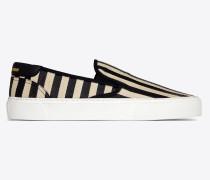 VENICE slip-on in striped elaphe