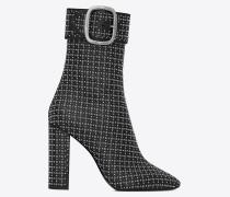 JOPLIN Stiefel aus schwarzem Leder mit Nieten