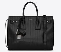 Kleine SAC DE JOUR Tasche aus schwarzem Aalleder