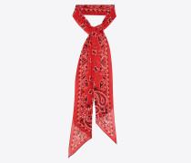 Lavallière tie in wool muslin with YSL bandana print