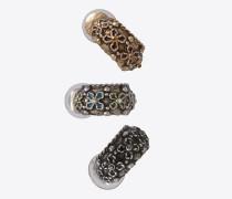 set marrakech ohrringe aus silberfarbenem zinn und bronze
